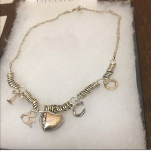 Tiffany & Co Peretti Silver Charm Necklace
